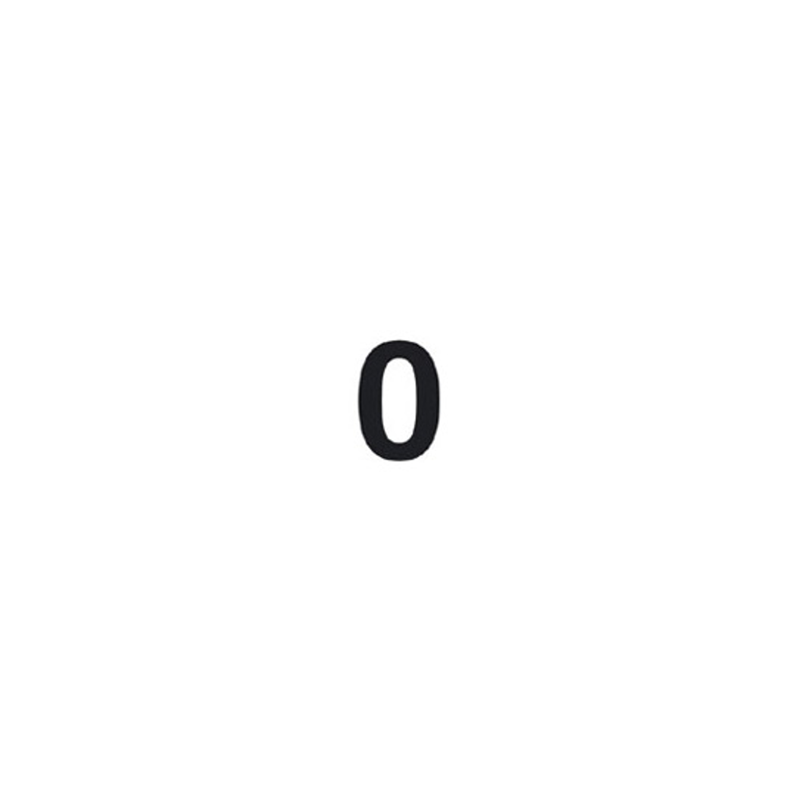 Selbstklebende Ziffer 0
