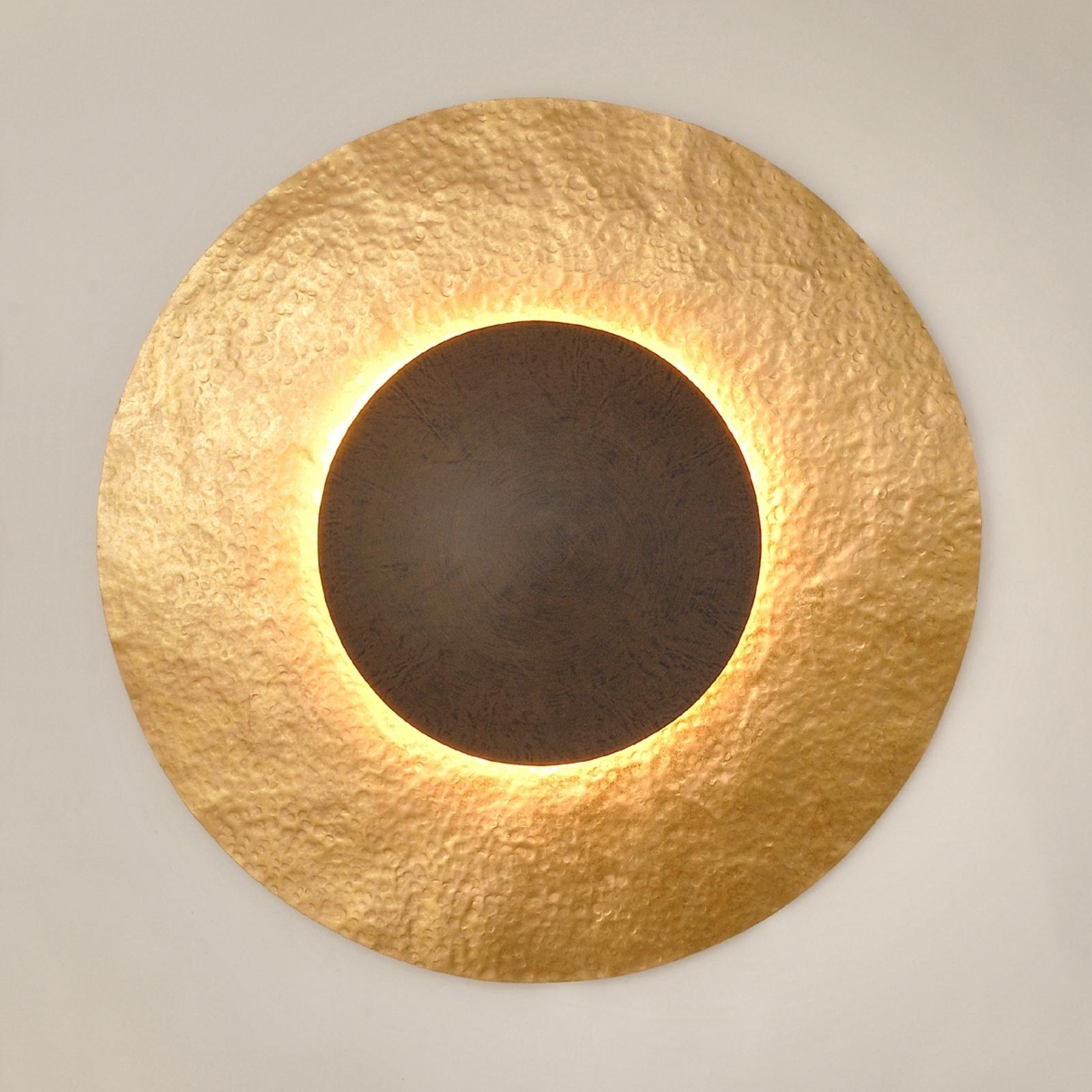 Wandleuchte Satellite 2 in Gold-Braun, Ø 91 cm