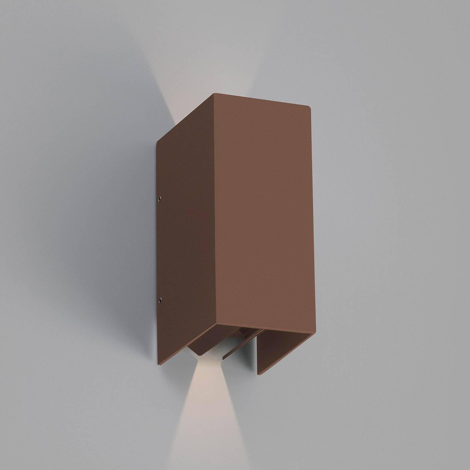 LED-Außenwandleuchte Blind, rostbraun