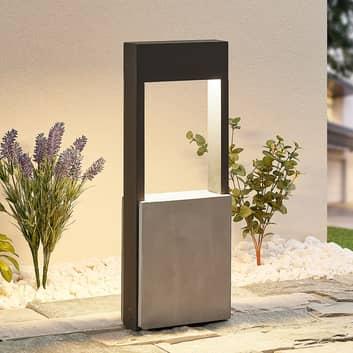 Lucande Tekiro lampa cokołowa LED, beton, 45 cm