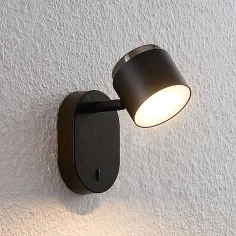 Lindby Marrie LED-Spot mit Schalter, schwarz