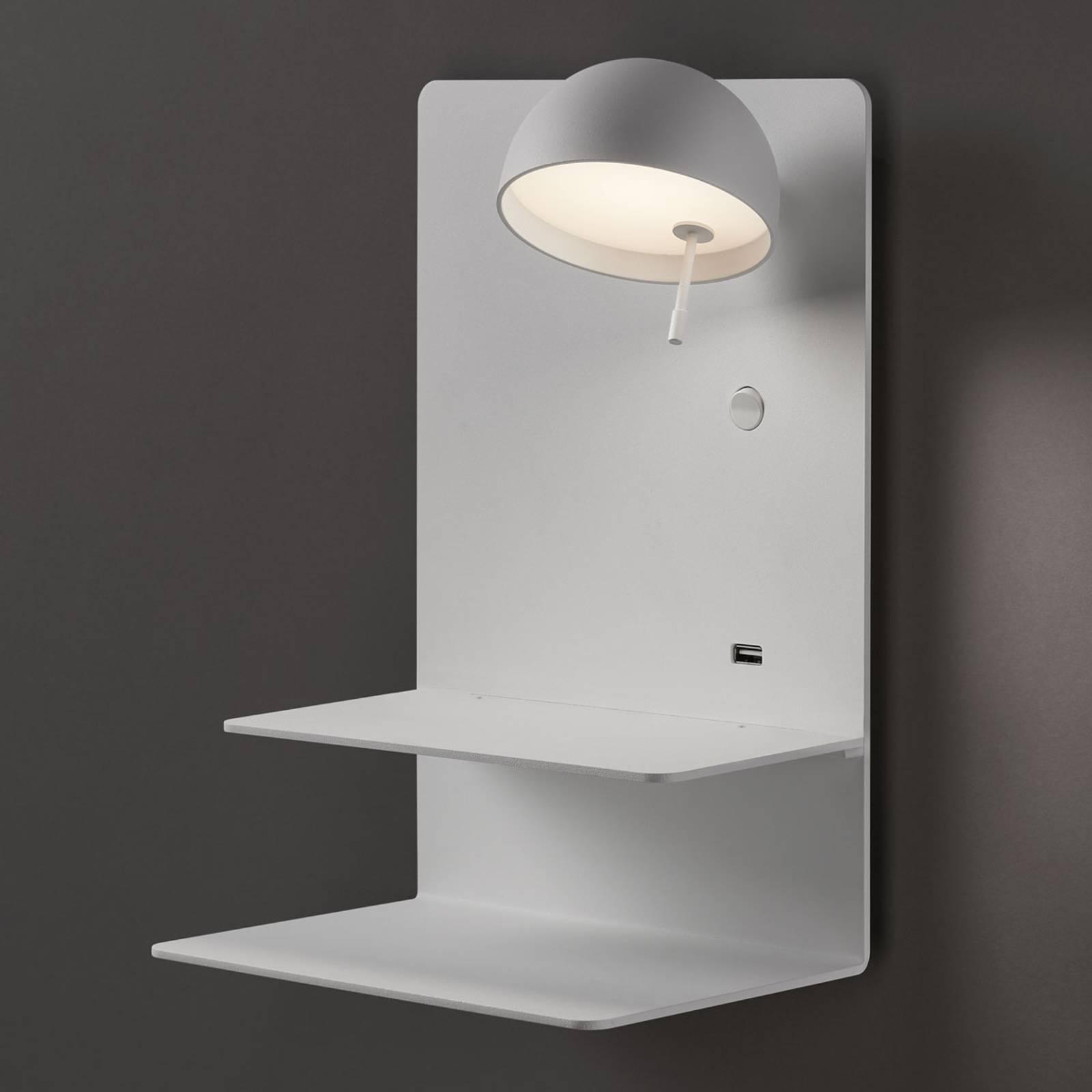 Bover Beddy A/04 LED wandlamp wit spot rechts