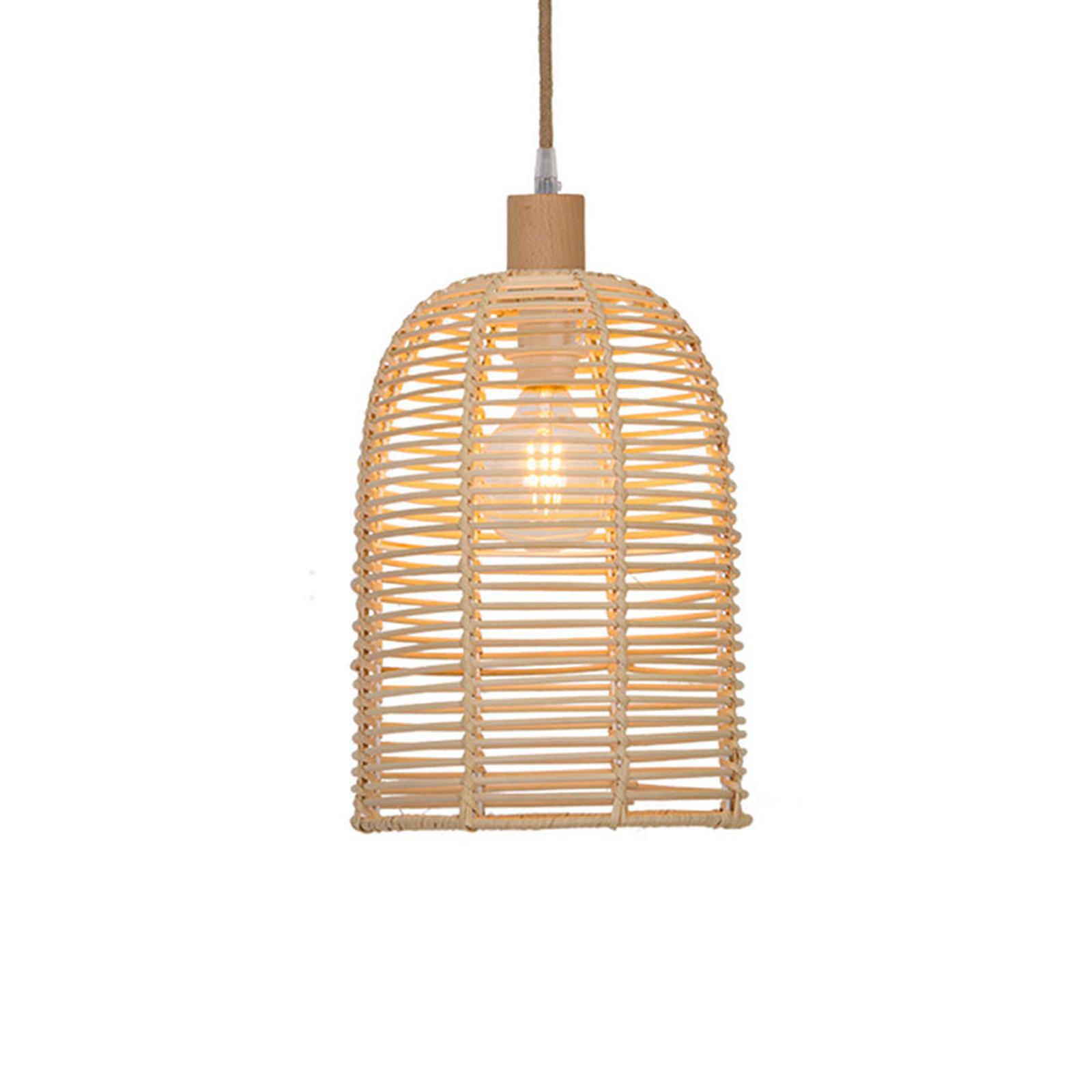 Lampa wisząca Bell z drewna