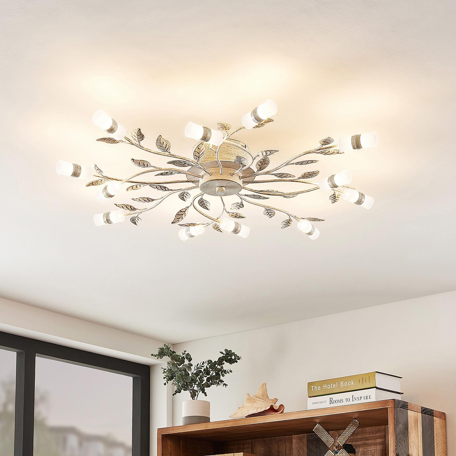 Lindby Bolonia LED-taklampe, hvit