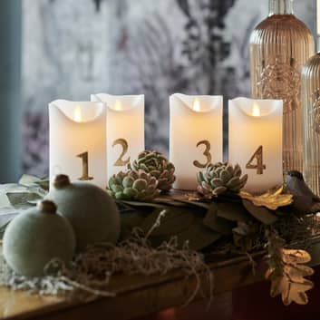 Świeca LED Sara Advent 4 szt. 12,5cm