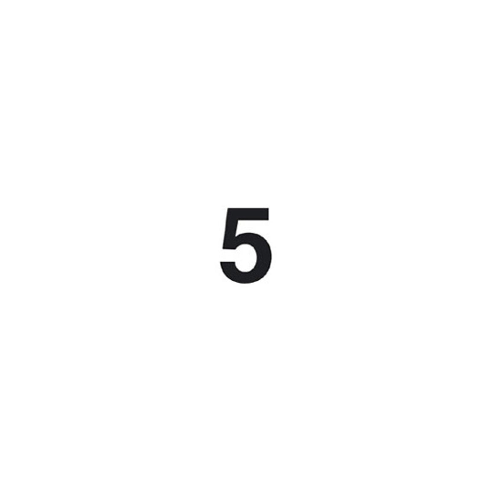 Selbstklebende Ziffer 5