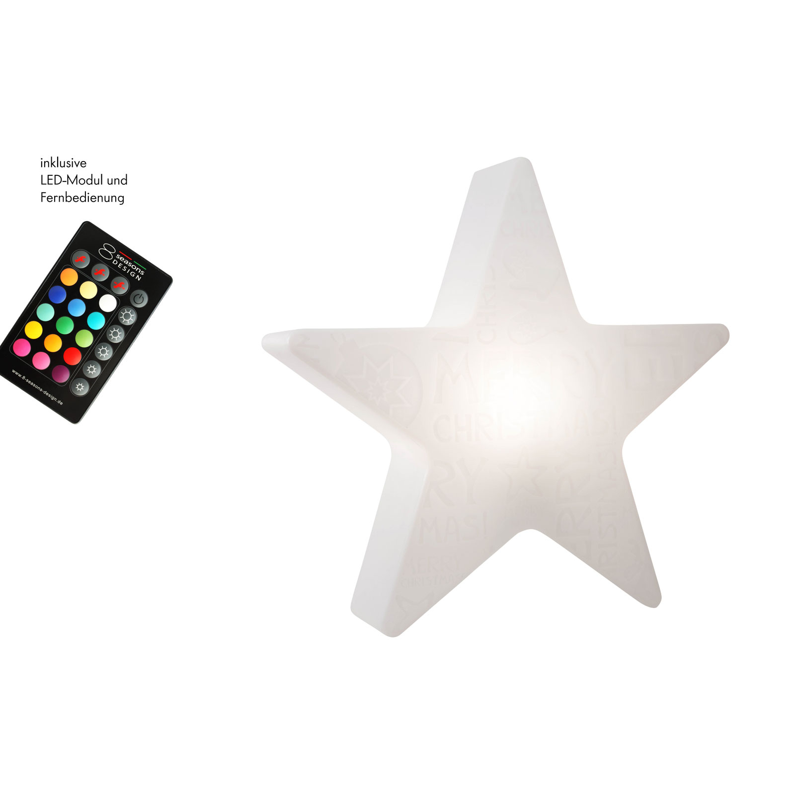 LED-Stern Shining Star Merry Christmas
