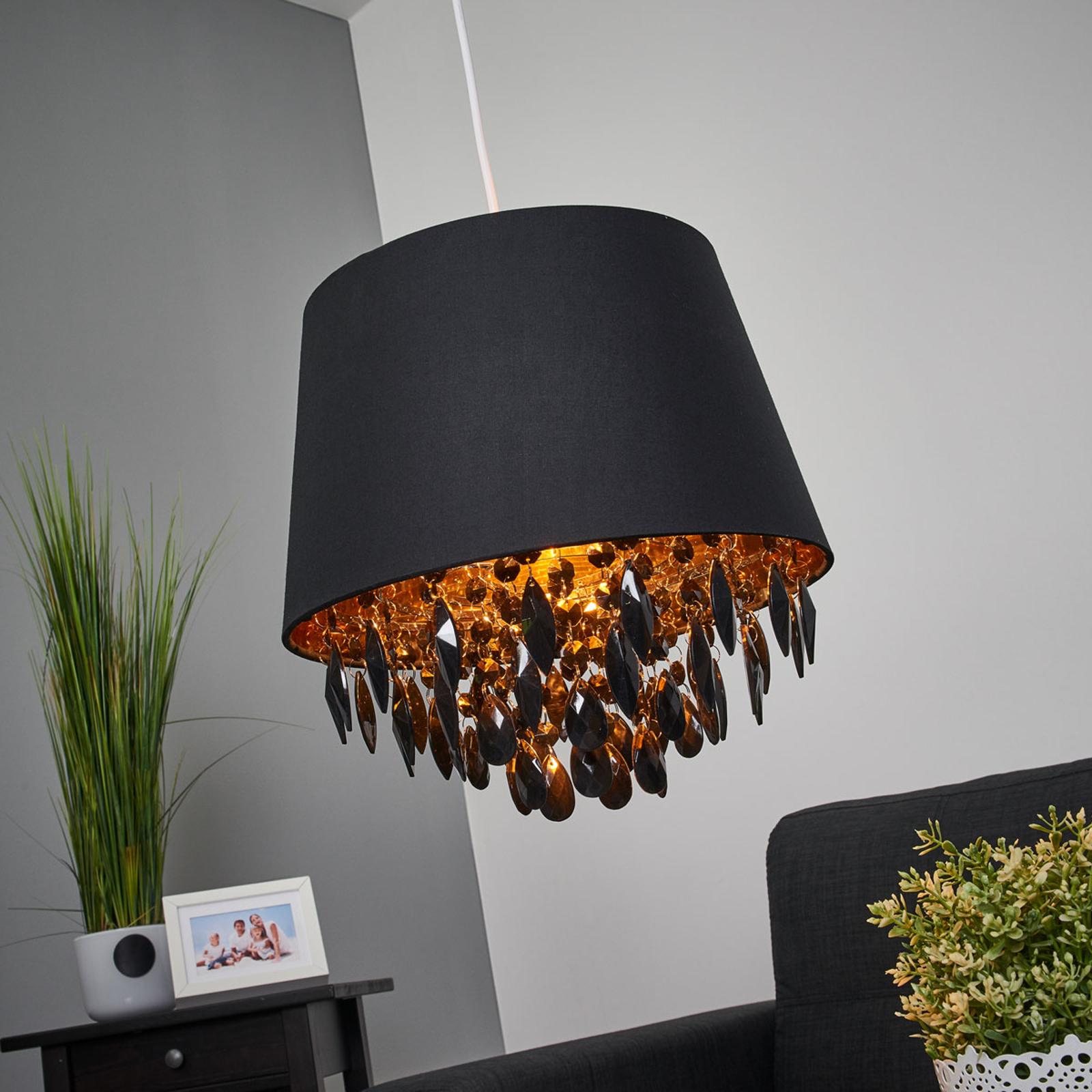 Lampa wisząca DOLTI z czarną draperią
