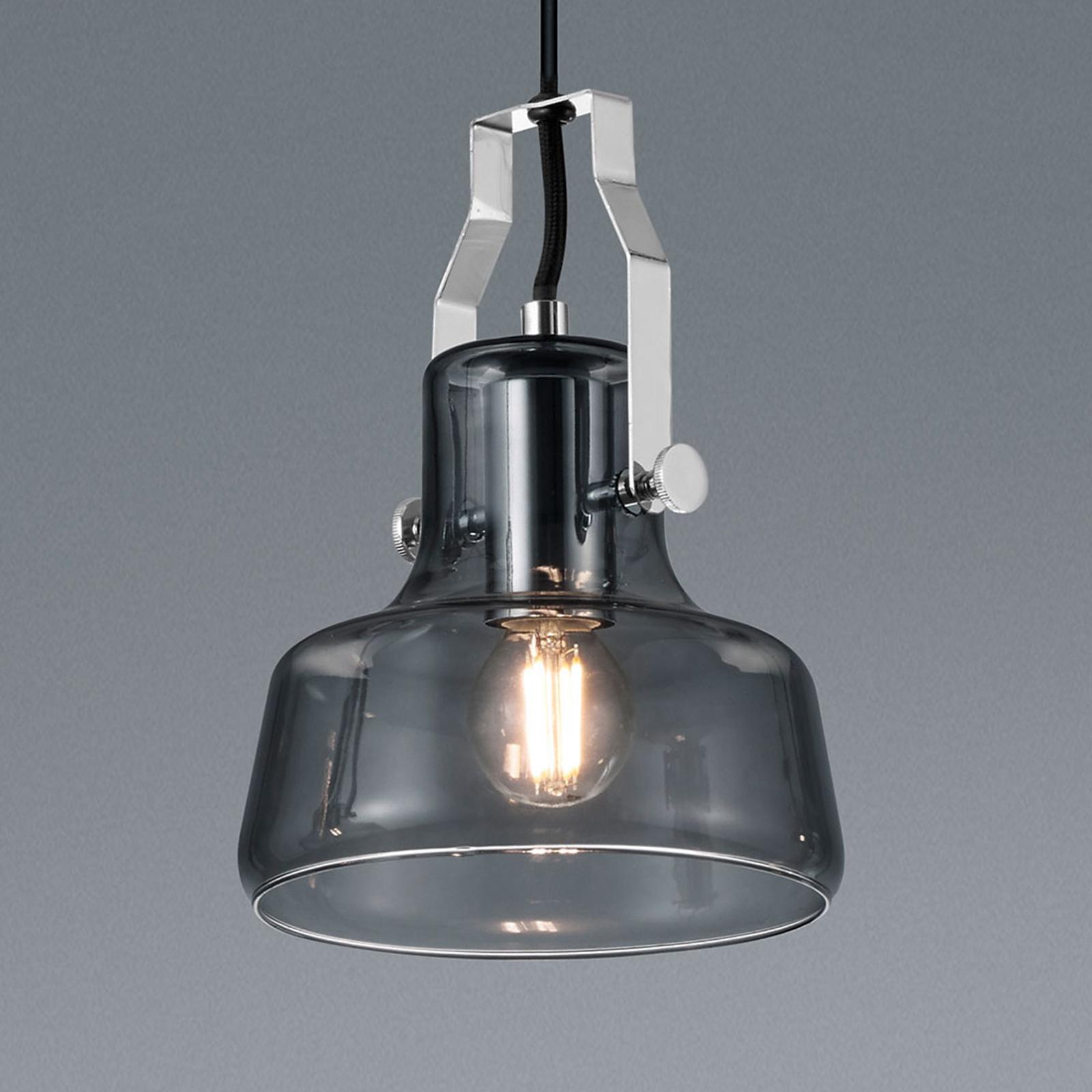 Hanglamp Kolani met glazen kap met 1 lampje