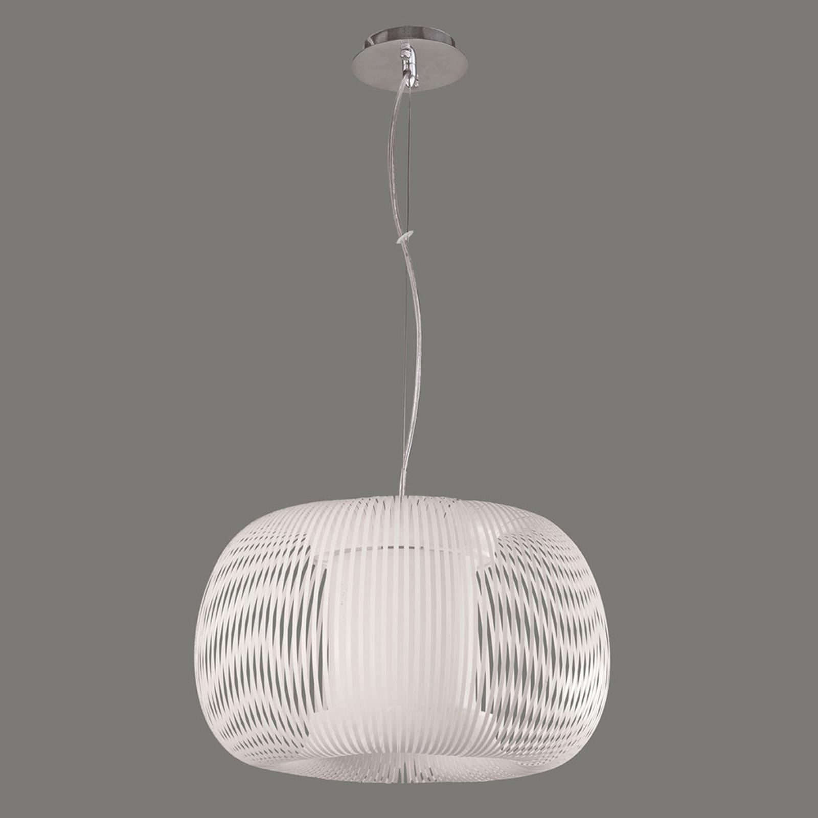 Lampa wisząca Mirta, biała, Ø 45 cm