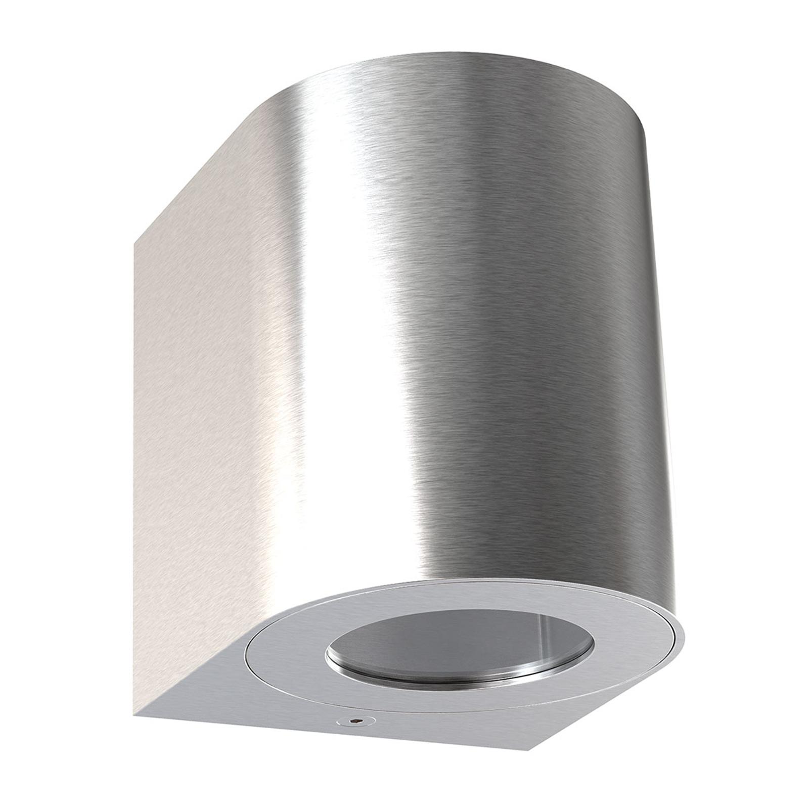 Applique d'ext. LED Canto 2, 10cm, acier inox