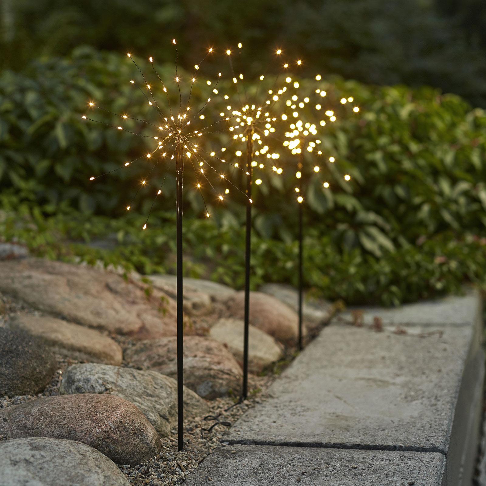 LED-dekolampe Firework Outdoor, 3-sett varmhvit