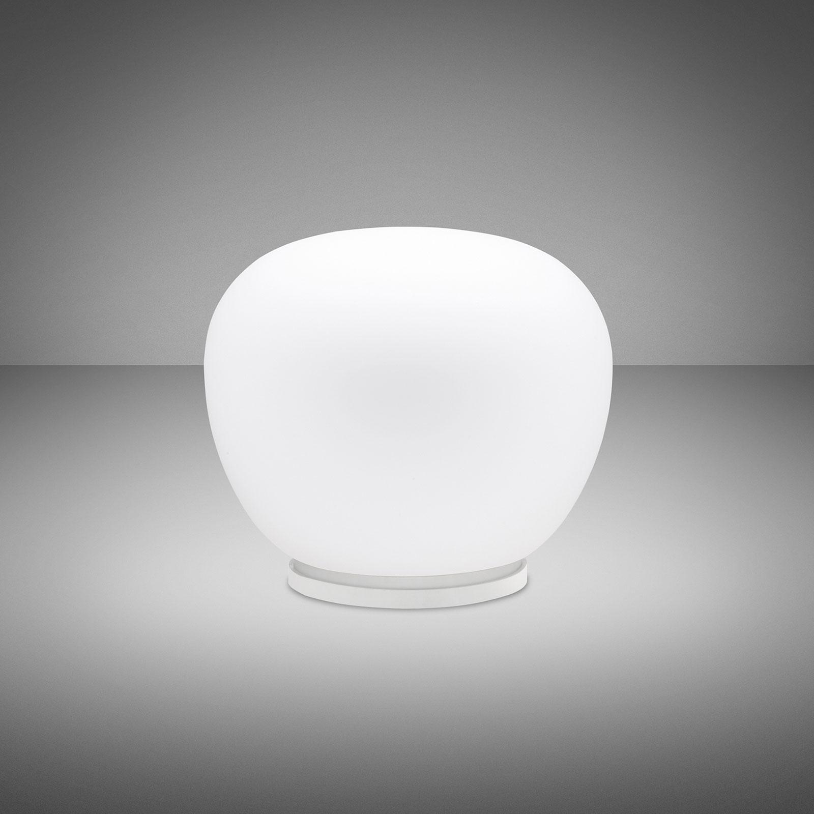 Fabbian Lumi Mochi bordslampa, liggande, Ø 30 cm