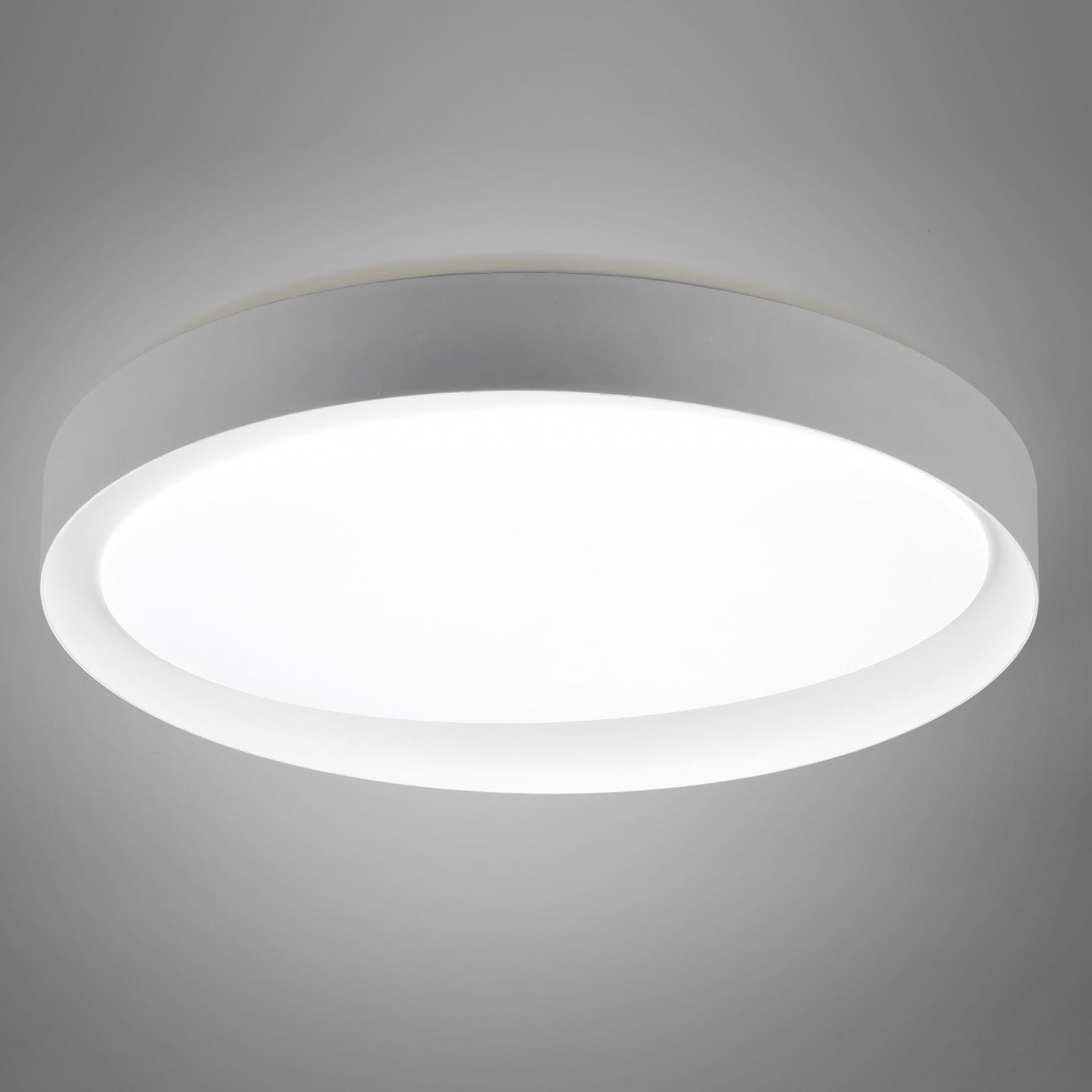 Lampa sufitowa LED Zeta tunable white, szara/biała