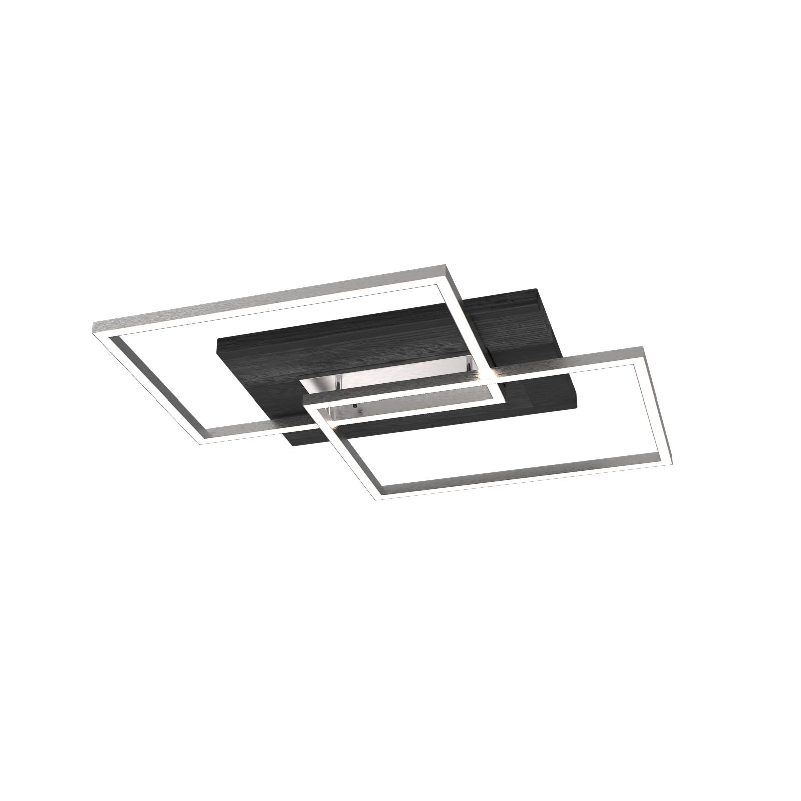 Lampa sufitowa LED Panama S, dąb czarny
