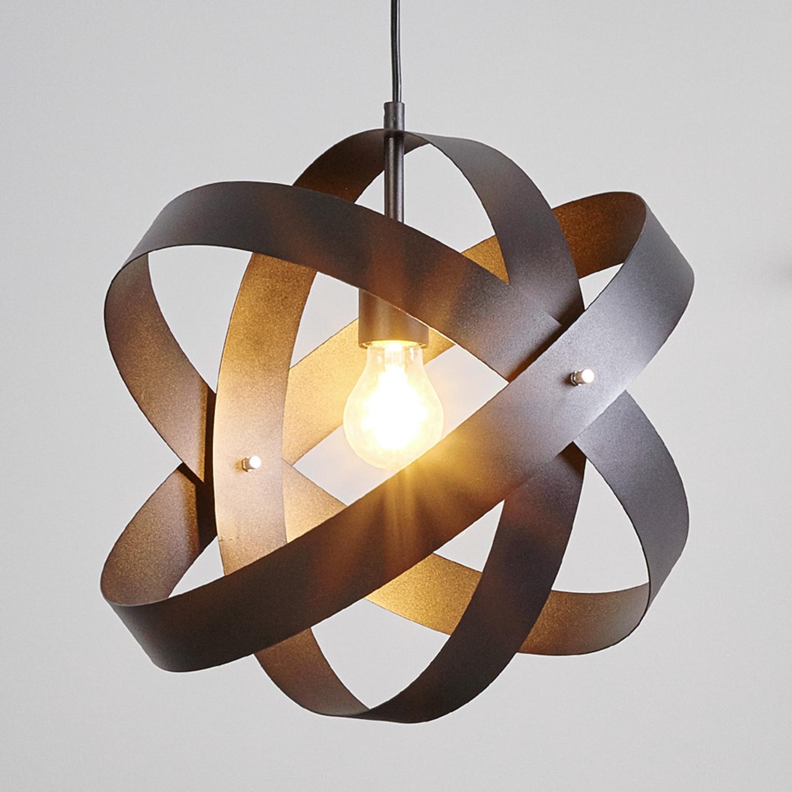 Schwarze LED Pendelleuchte Cara mit drei Ringen