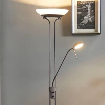 Yveta - rostfarbener LED-Deckenfluter mit Dimmer