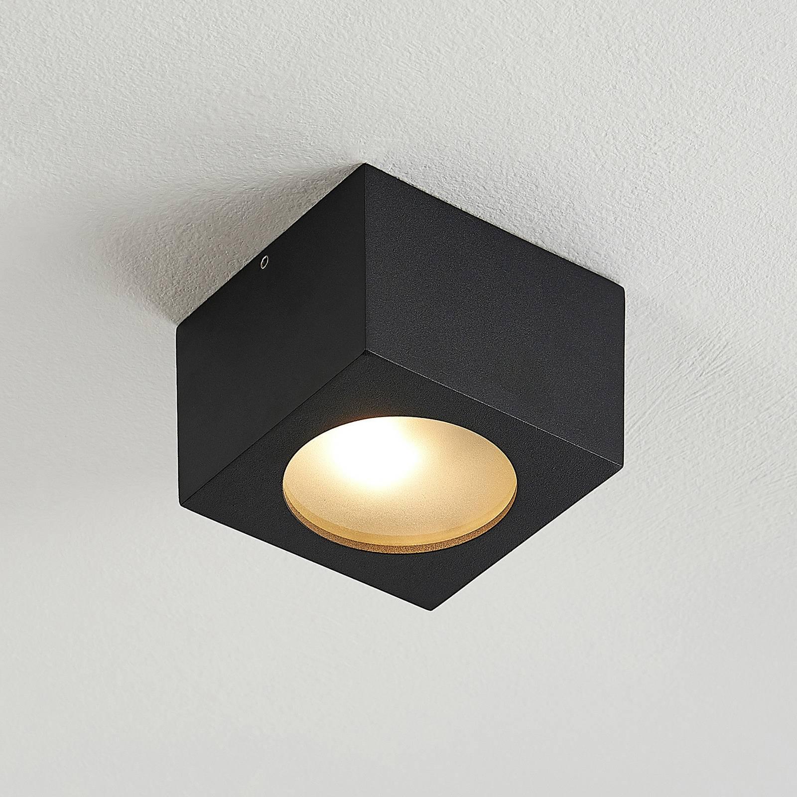 Arcchio Nieva downlight, G9, zwart, hoekig