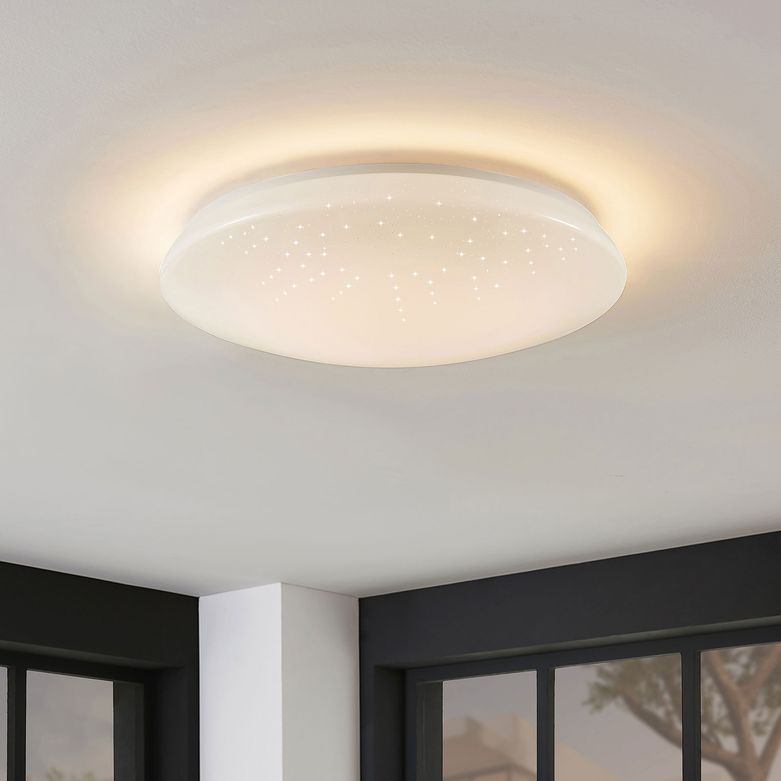 LED-Deckenlampe Jelka, WiZ, RGBW-Farbwechsel, rund