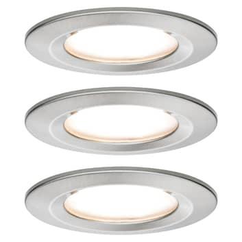 Paulmann Nova LED-downlight 3-er, rigid