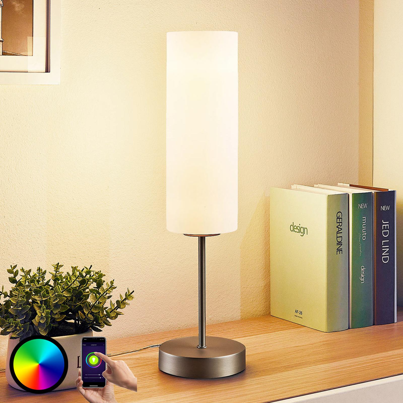 Lindby Smart lampada LED da tavolo Felice con RGB