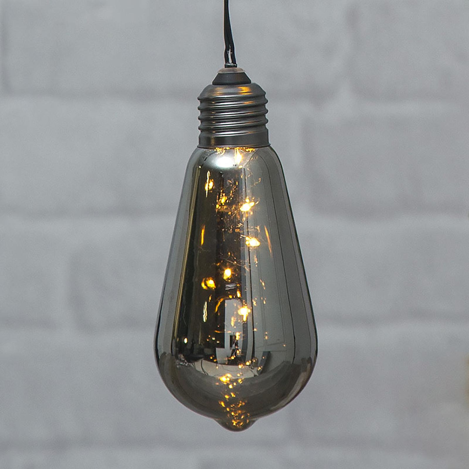 Vintage LED-dekobelysning Glow med timer, røyk