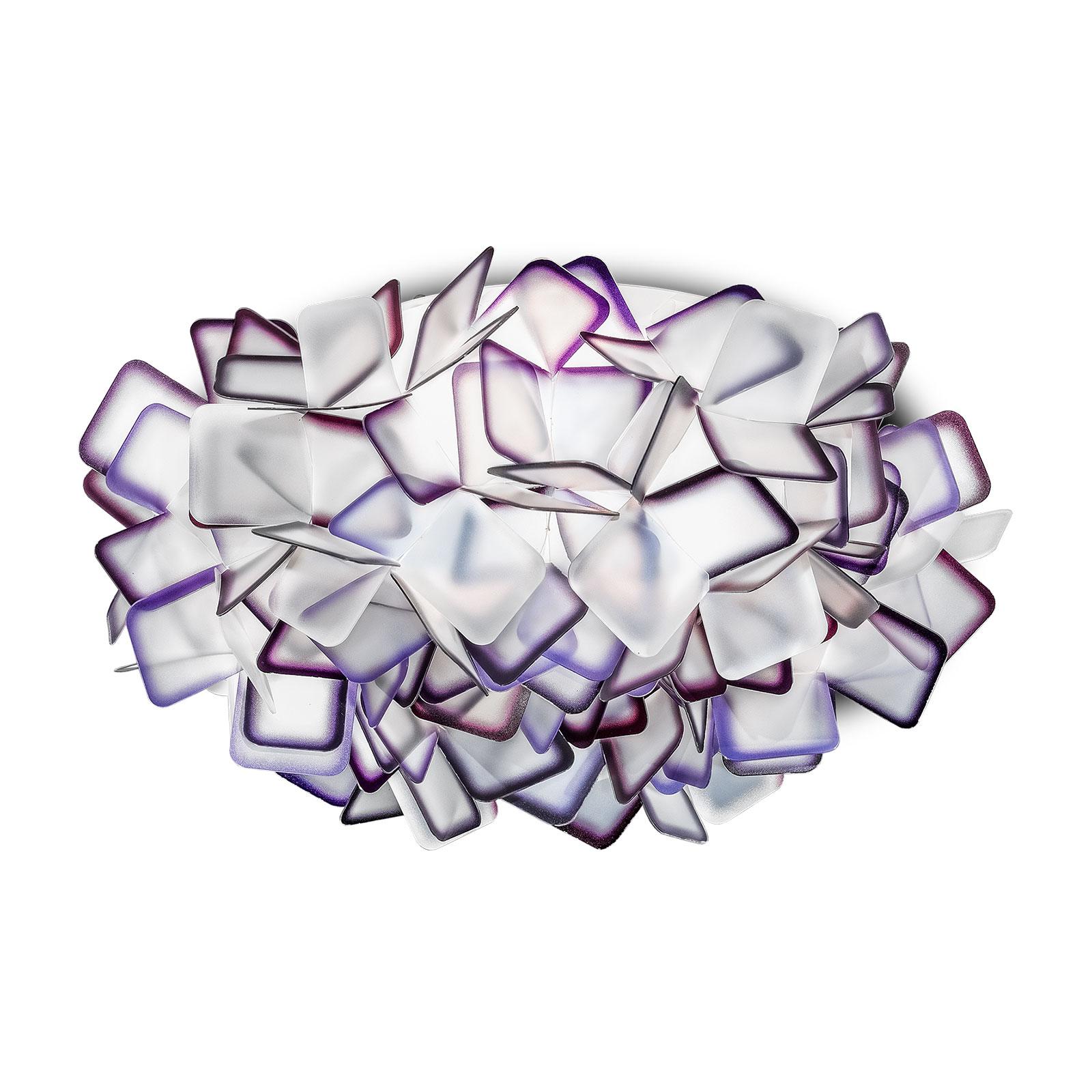 Slamp Clizia taklampa, Ø 32 cm, violett