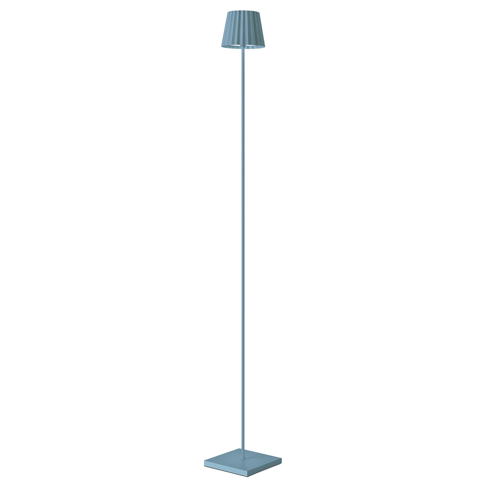 LED-Stehleuchte Troll für außen, blau