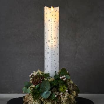 LED-Kerze Sara Calendar, weiß/Romantic, Höhe 29 cm