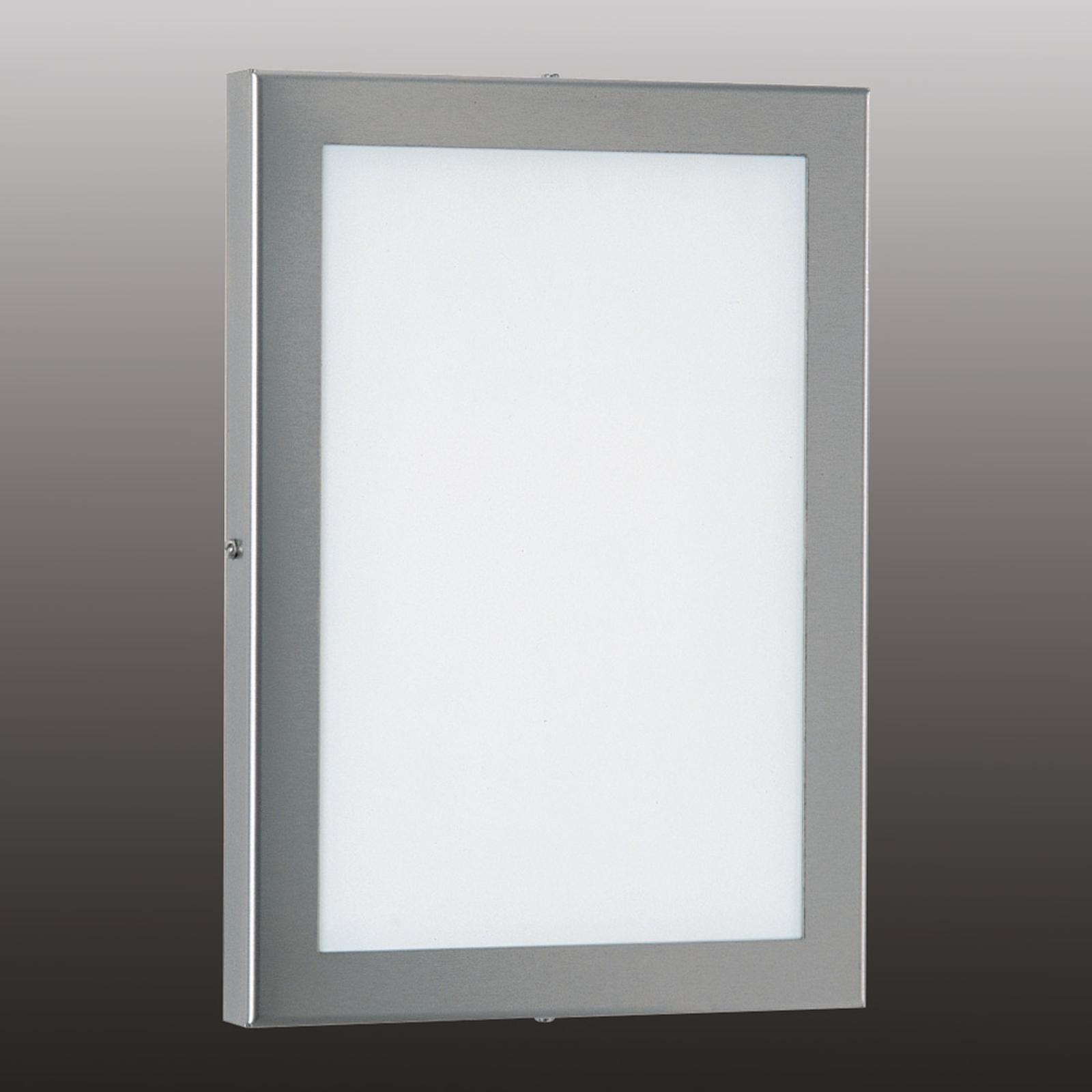 Hoekige LED buitenwandlamp Alina van RVS