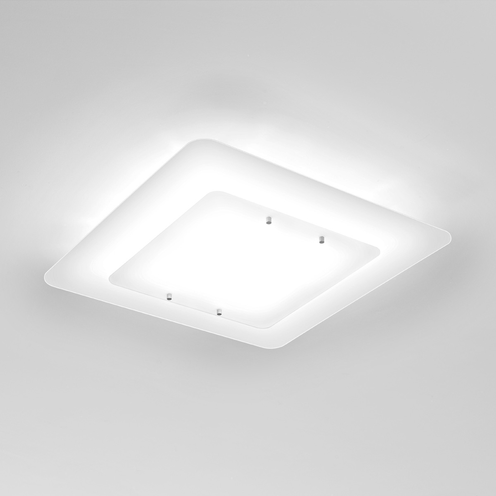 Pop-Up - loftlampe med hvid ramme