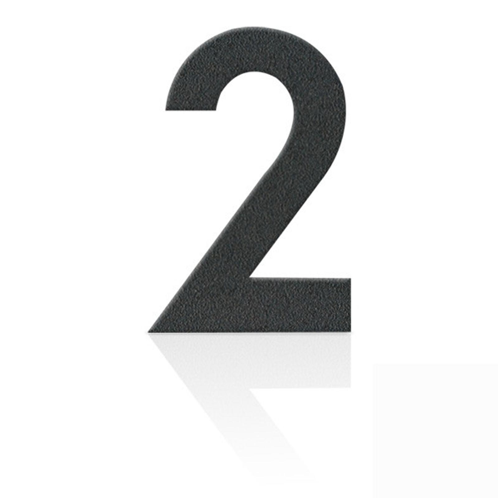 Produktové foto Heibi Nerezová domovní čísla číslice 2, grafit šedý