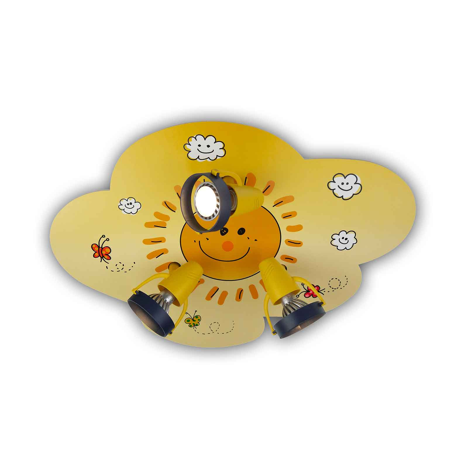 Freundlicher Deckenstrahler Sunny in Wolkenform