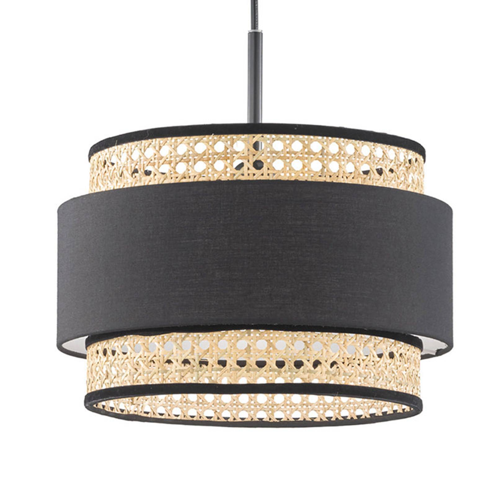 Hanglamp Tape met rotan-kap, 1-lamp