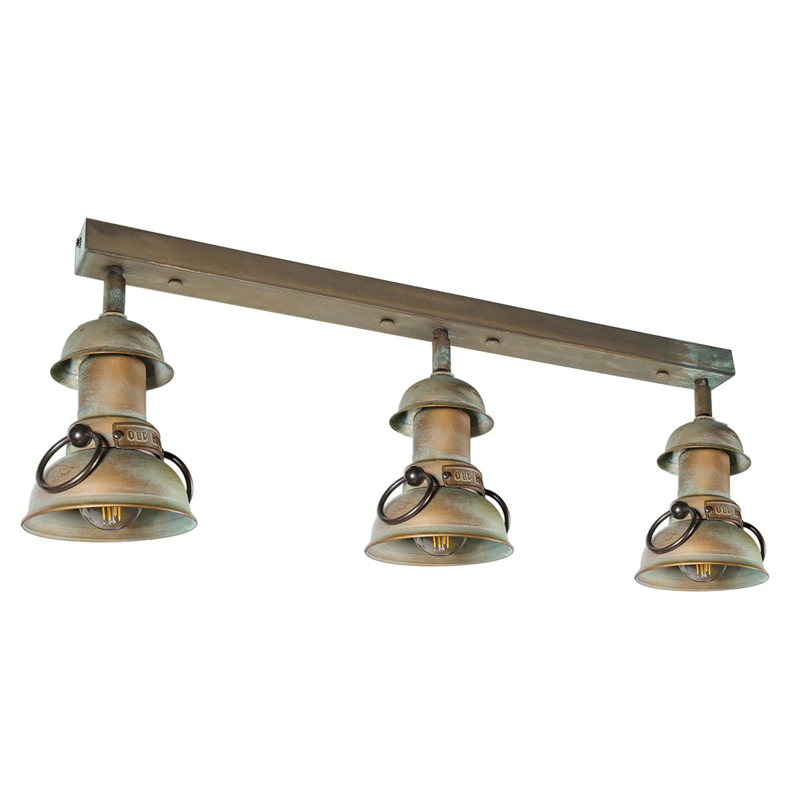 RAVENNA - lampa sufitowa, miedź antyk
