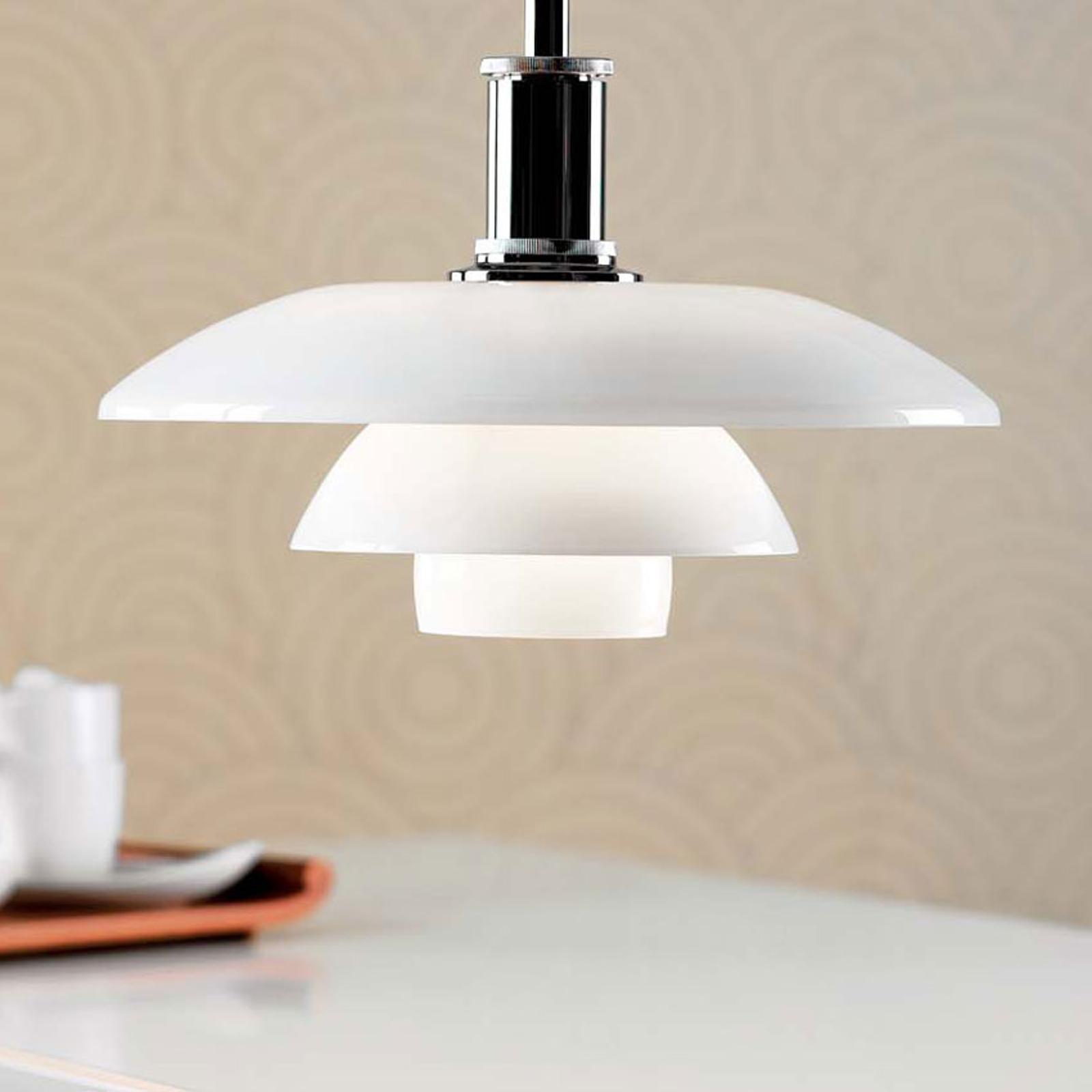 Louis Poulsen PH 3 1/2-3 glazen hanglamp zwart