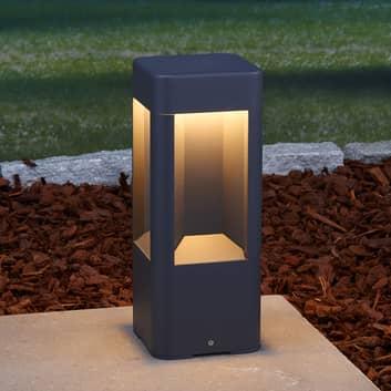 LED-sokkellampe Annika av aluminium, 30 cm