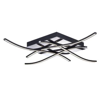 LED-taklampa Spiner, svart, 61 x 61 cm