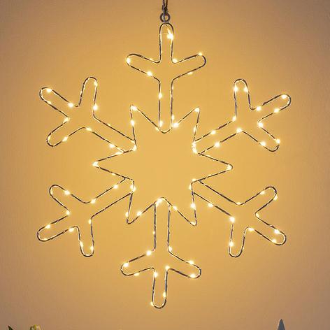 Lampe décorative LED Flocon de neige argenté
