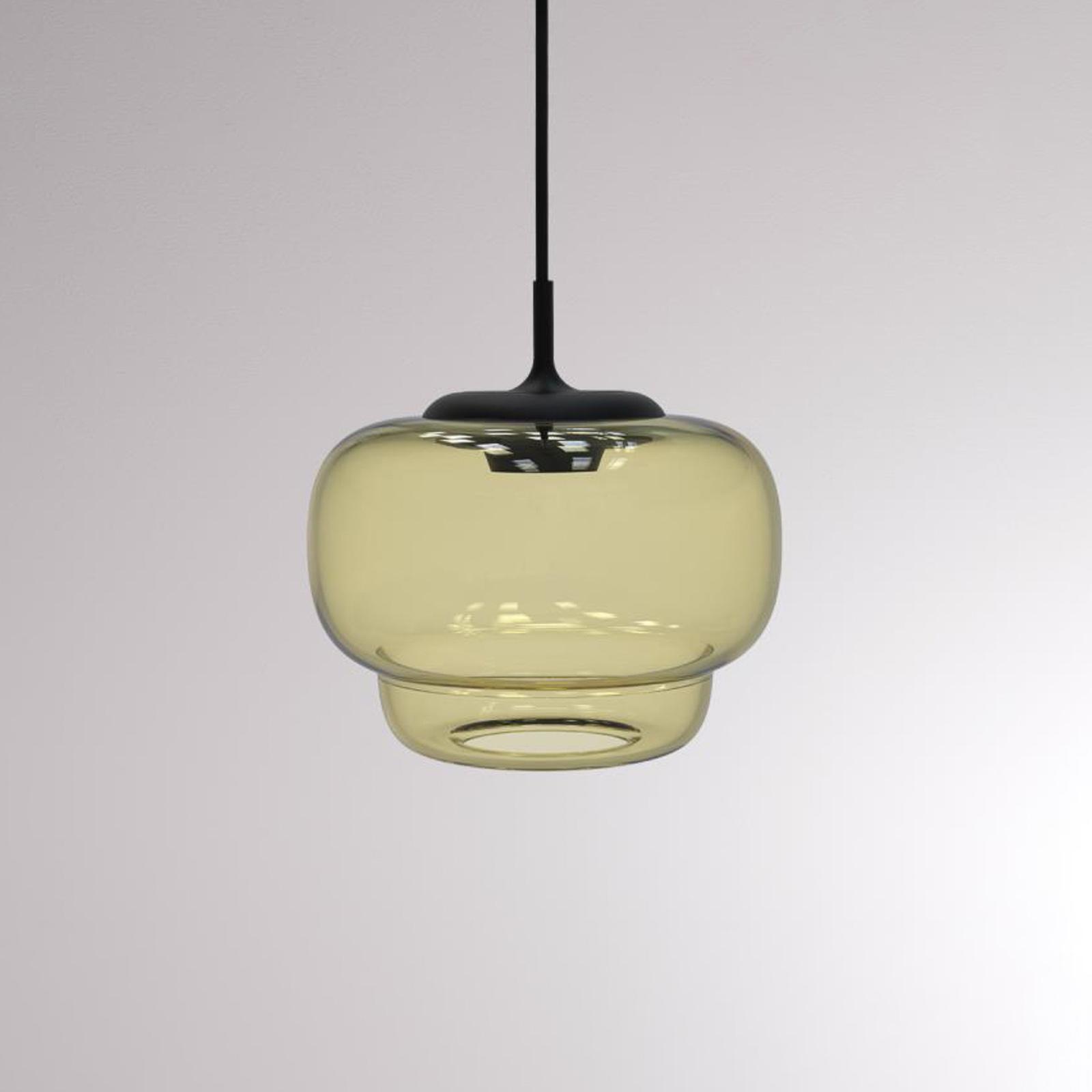 LOUM Canna LED-hængelampe, Ø 21 cm, champagne