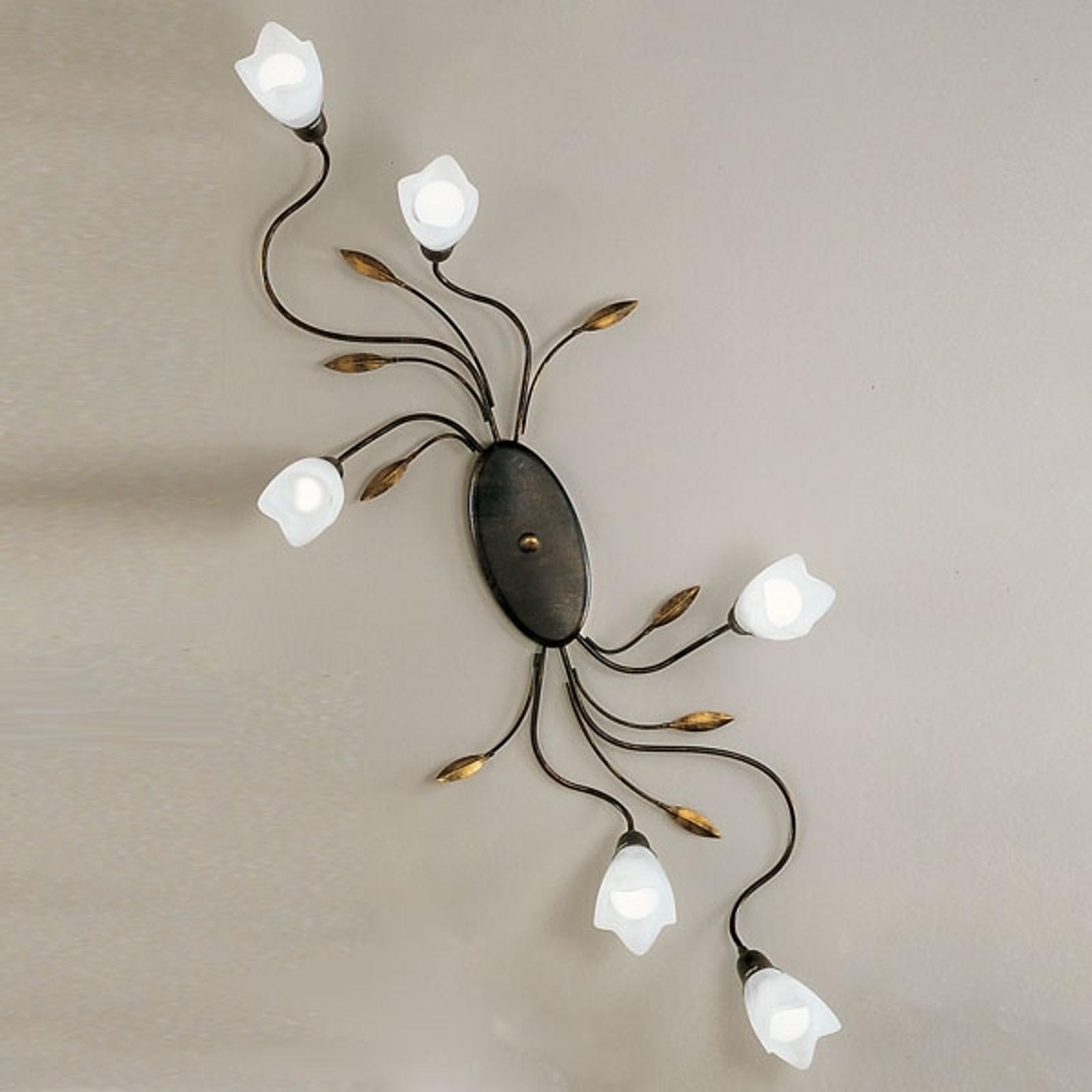 Lampa sufitowa CAMPANA kwiat, 6-punktowa