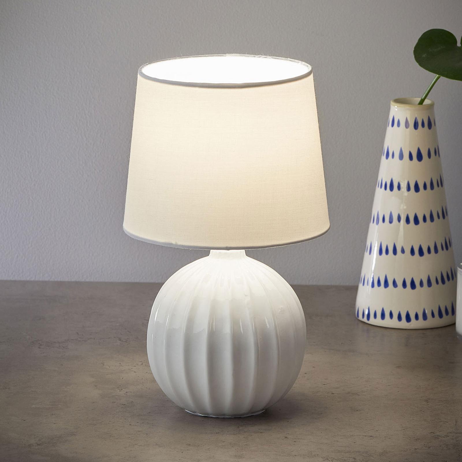 Bordlampe Melanie, hvit