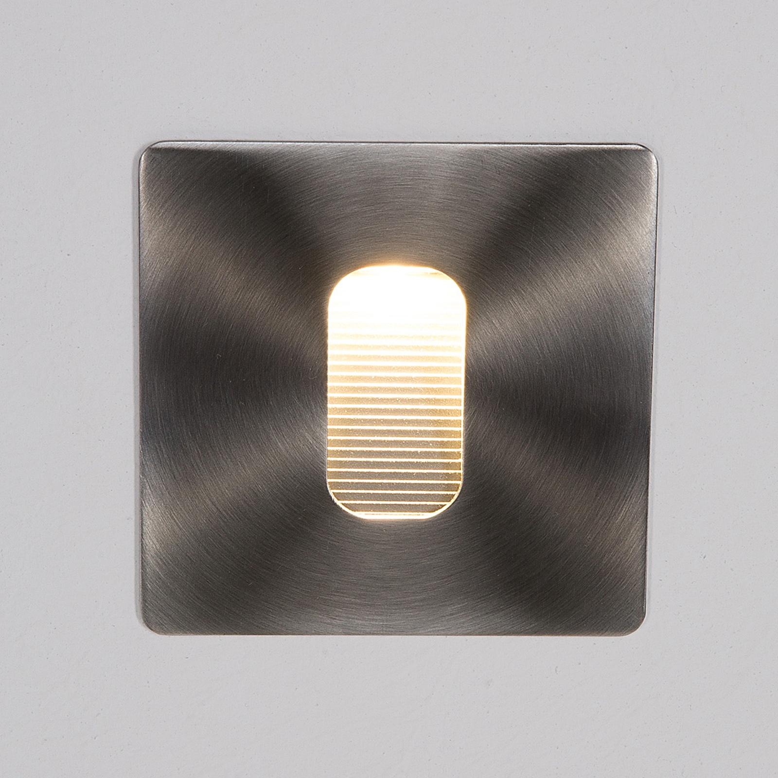 Kantet vegginnbyggingslampe Telke med LED, IP65