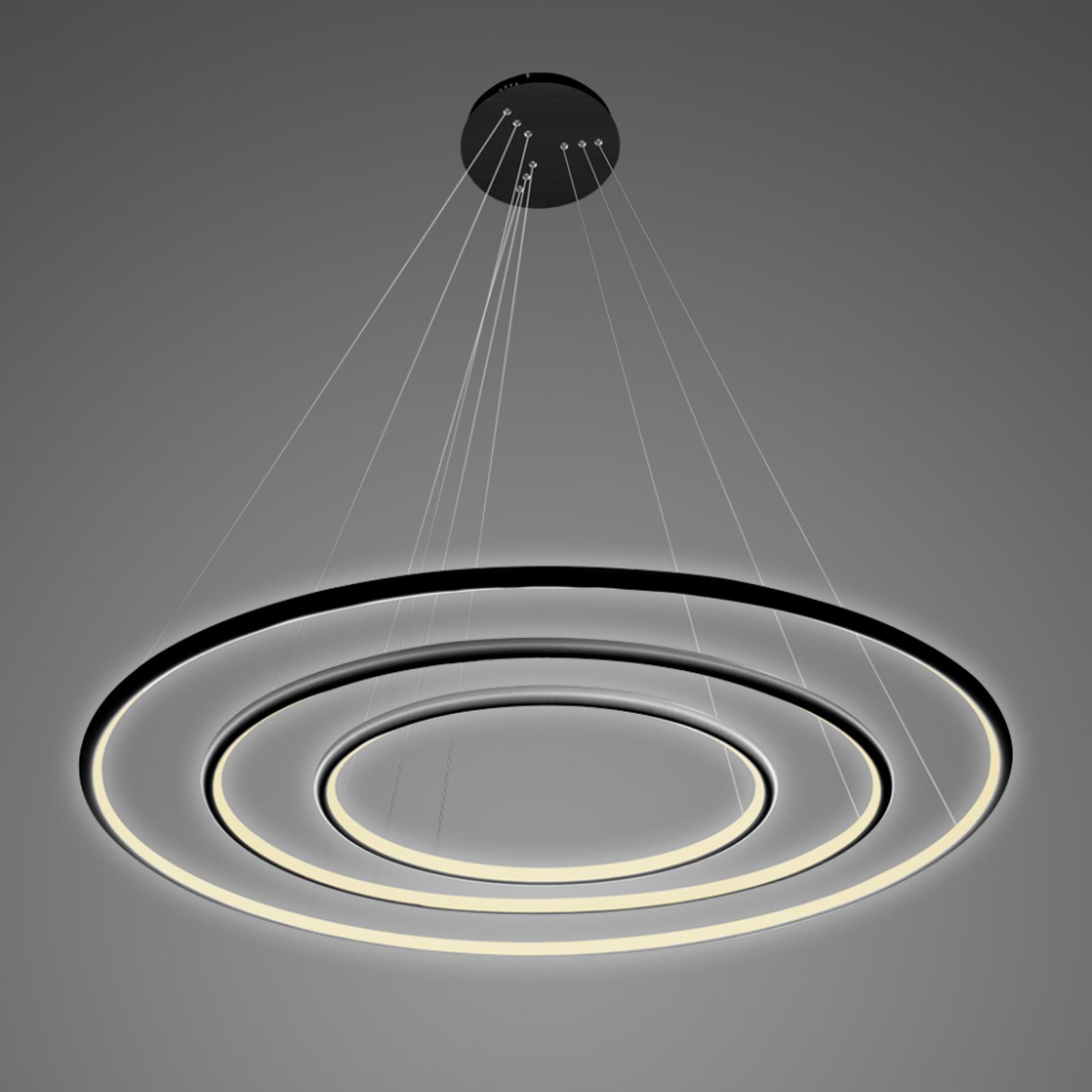 Lampa wisząca LA075 3-pkt. 80cm czarna 3000K