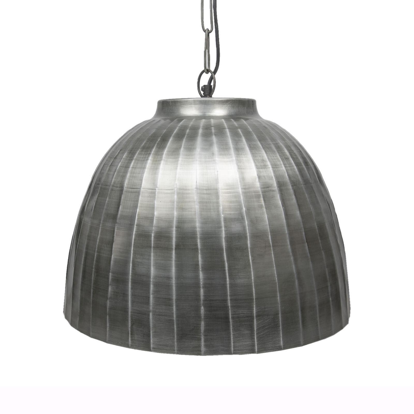 Lampada a sospensione 564ZI a cupola argento