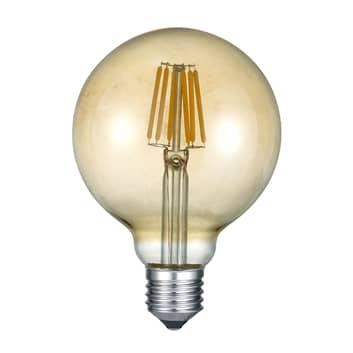 LED-globlampa E27 6W 2700K bärnsten