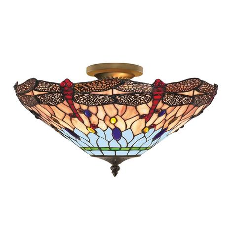 DRAGONFLY - Taklampe Tiffanystil