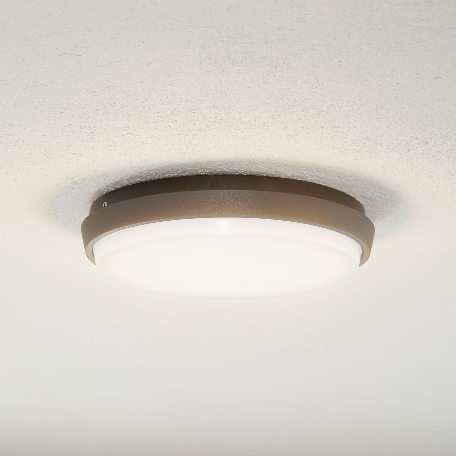 Lucande Amra LED-Außendeckenleuchte, rund, 24 cm