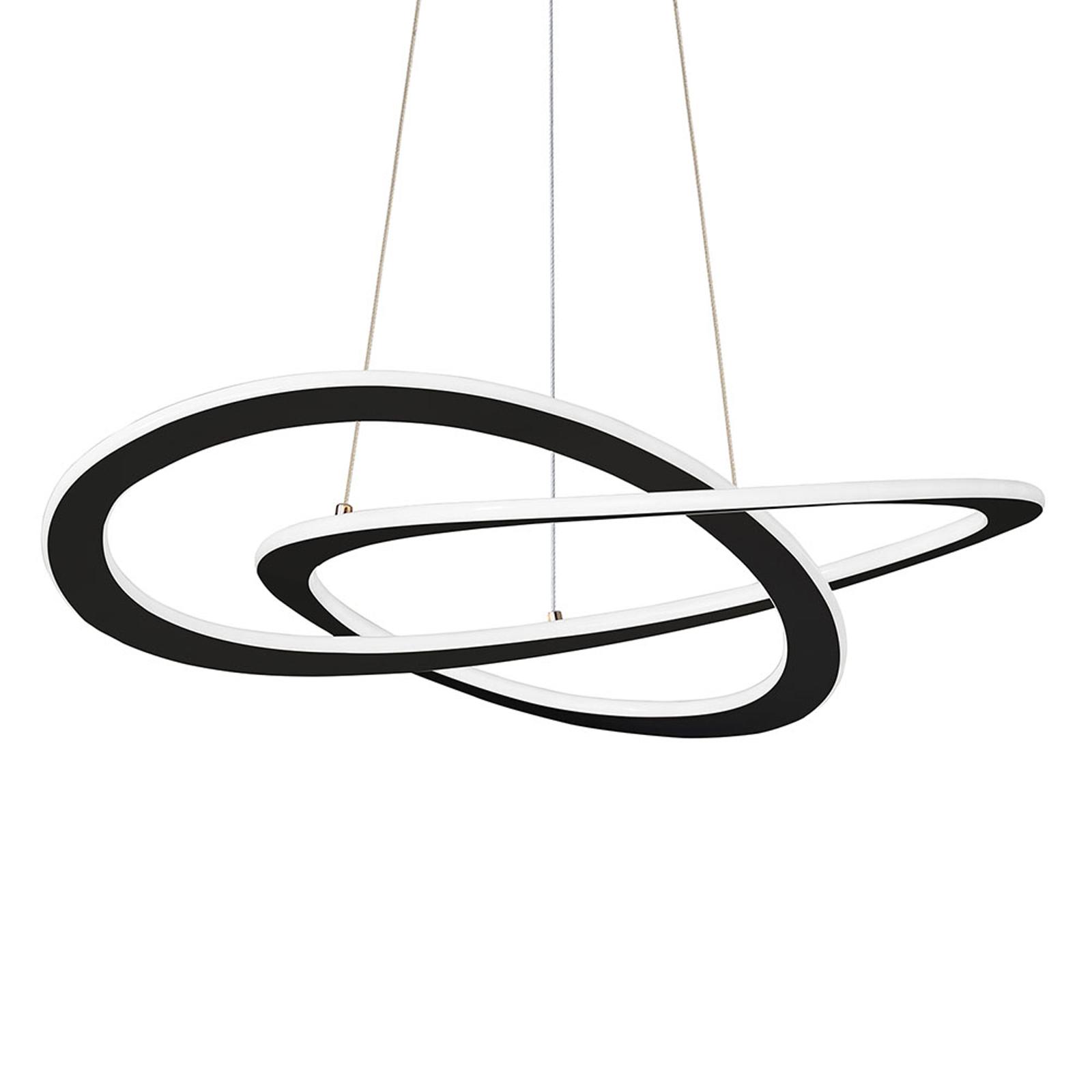 Suspension LED Charlie, Ø 62 cm, noire