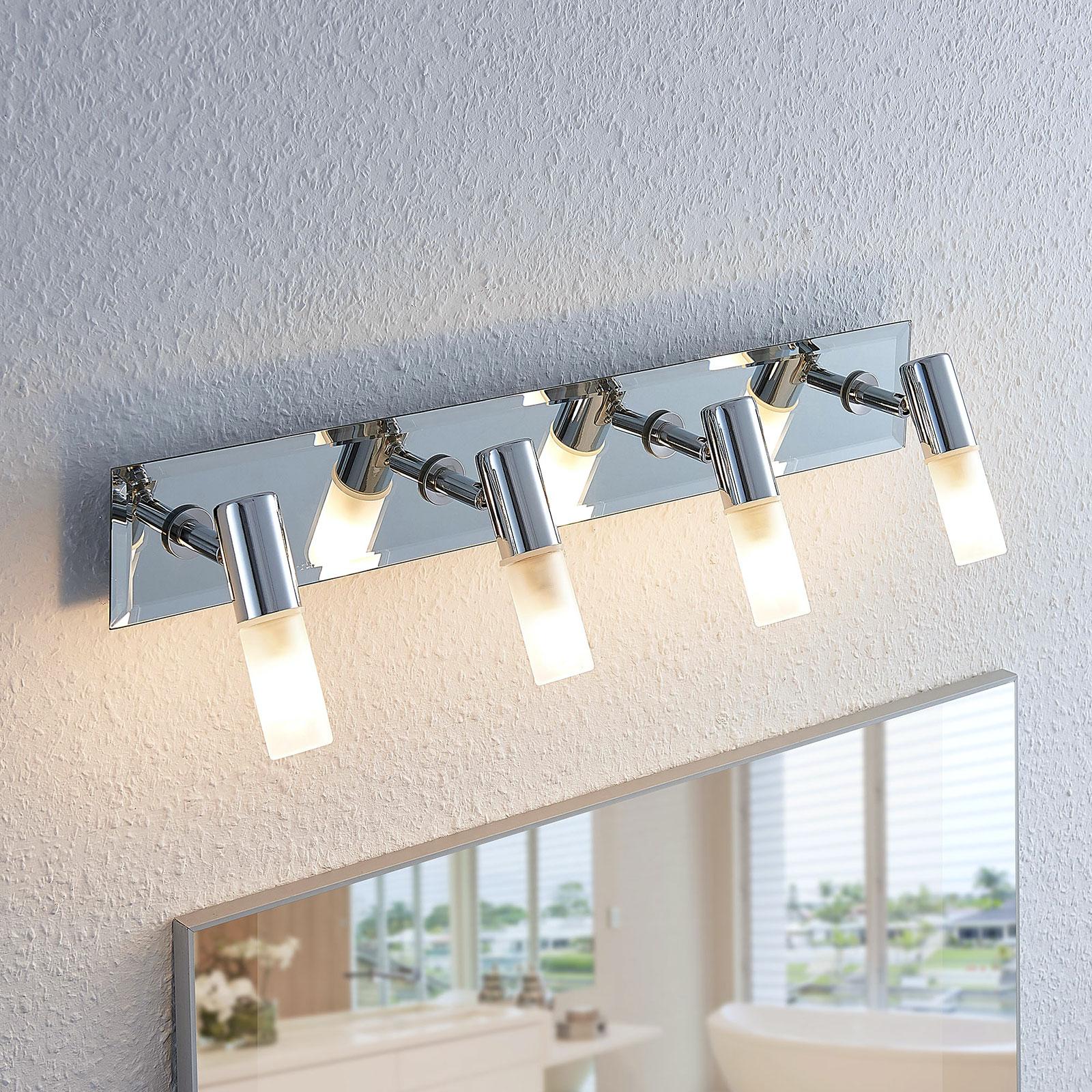 Koupelnové světlo Zela, 4bodové, délka 53 cm